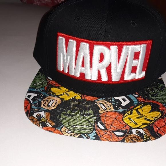 bc30ee7ab Marvel Avengers snapback hat Blk NWT